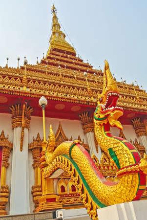Thai dragon, King of Naga statue  photo