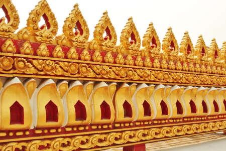 thai Wall temple Stock Photo