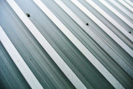 galvanize: An abstract background Corrugated sheet perspective