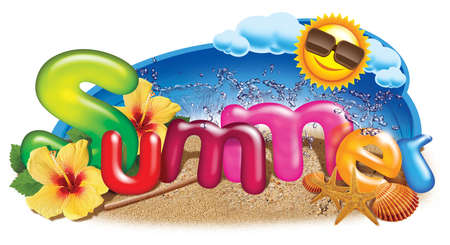 Summer Holidays Symbol on the beach photo