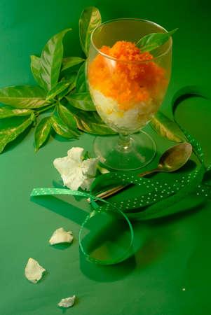 egg custard thai dessert Stock Photo