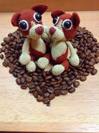 doll: Heart coffee and two doll
