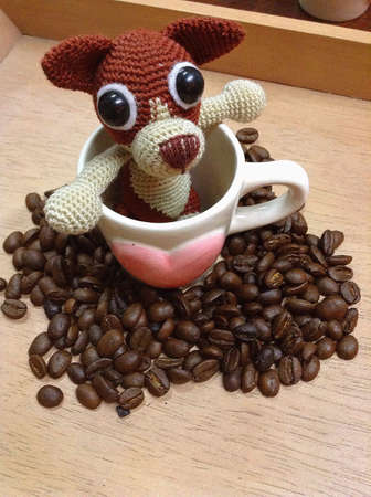 doll: Heart coffee and doll