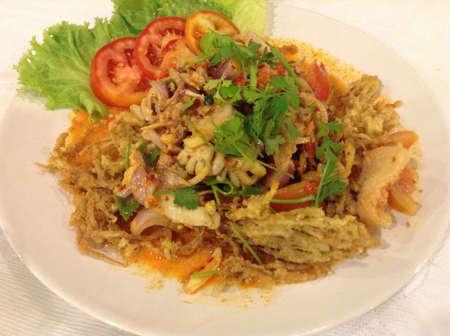 Thai food, yam saw phatoomrat