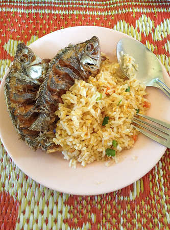 Thai food, fried fish Stock Photo