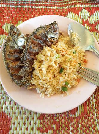 Thai-Food, gebratenen Fisch Lizenzfreie Bilder