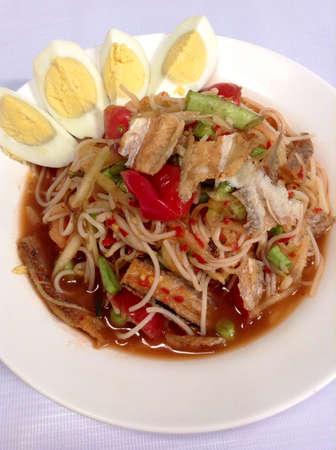 Papaya-Salat Thai-Essen