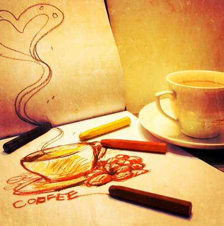 Sketch of a coffee cup