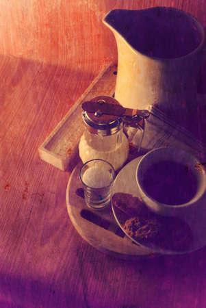 Cup coffee beans vintage