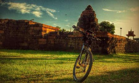 Cycling tour Stock Photo
