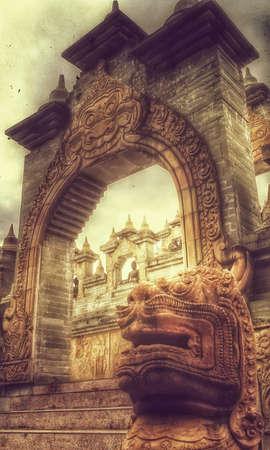 Thailand Tempel retro