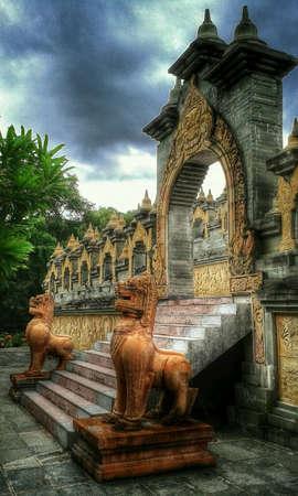 Thailand temple retro Stock Photo