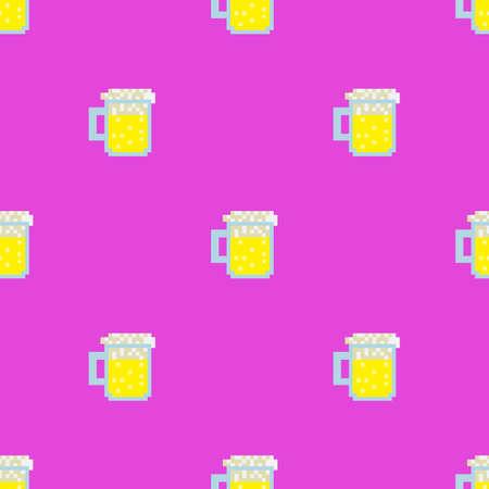 Pixel beer backgrounf
