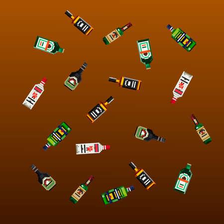 pixel alcohol pattern