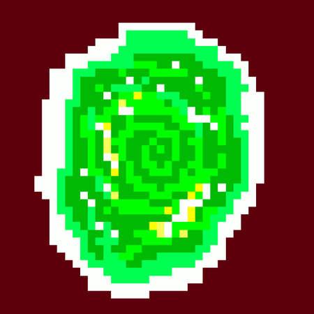 rick: pixel green portal