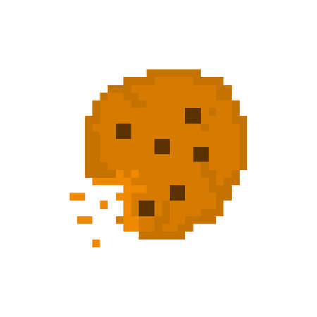 Pixel cookies with chocolate