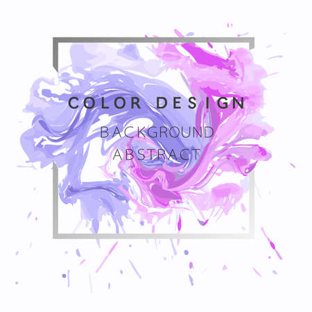 Art abstract background watercolor paint  texture design poster illustration vector over square frame. Perfect watercolor design for headline, logo and sale banner.