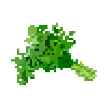 potherb: Pixelated bundle of potherbs for mobile games and applications Illustration