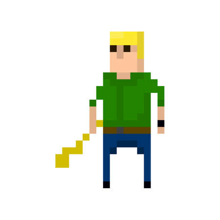 Pixel character criminals for games and applications