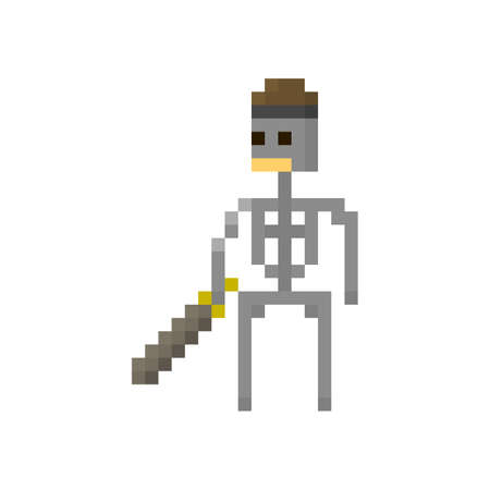 8bit: Pixel skeleton warrior for games and applications