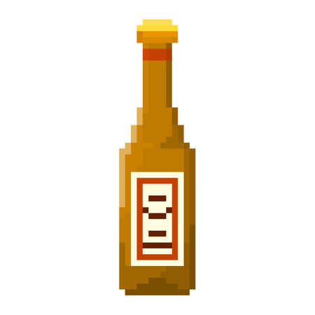 8bit: Pixel bottle of beer for games and applications