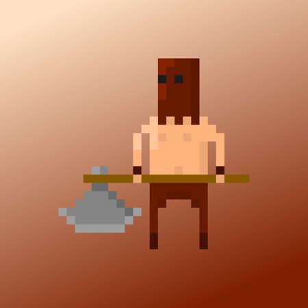 PixelCharakterKriminelle Für Spiele Und Anwendungen Lizenzfrei - Minecraft pixel spiele