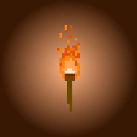 torch: Pixel torch for games and applications Illustration