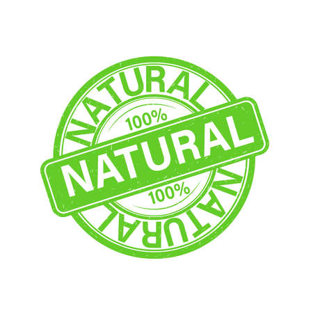 Stamp, seal. One hundred percent natural product without preservatives or harmful additives. Confirmed quality, approved, certified product, confidence in purchase. Verified recommended item.