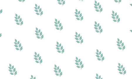 Delicate texture, ornament for creating wallpaper patterns, textiles, summer print for fabric. Leaves on a white background, bedding tones, green twig.