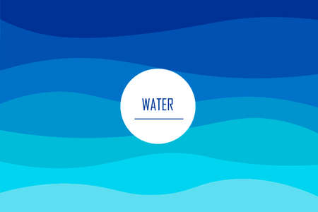 Colorful banner with the image of sea waves, and the inscription in the middle. Template for business cards, flyers, advertisements, posters, brochures. Vector