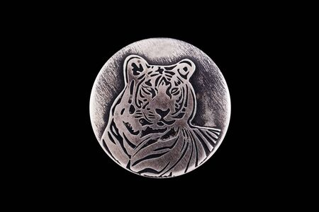 rampant: Tiger - the embodiment of energy, health and success. Silver sign