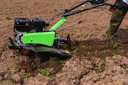 cultivator: green cultivator machine