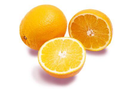 fresh oranges isolated on a white background