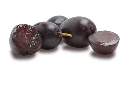 several grapes quiche isolated on a white background Reklamní fotografie