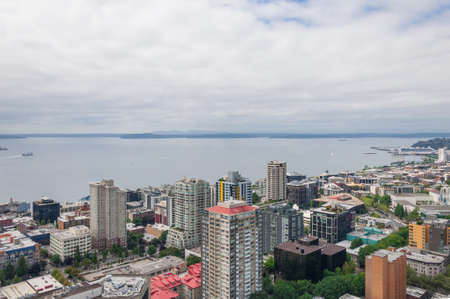 Downtown of Seattle and neighbour islands (Seattle, WA, USA)