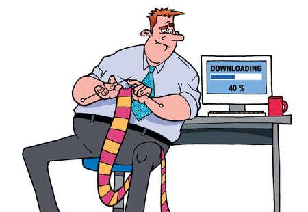 Very slow internet Banque d'images