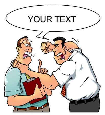 misunderstanding: business people conflict