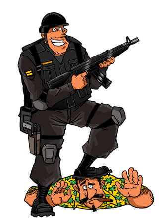 Elite soldier and criminal element