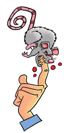rata: Mad rata blanca de laboratorio