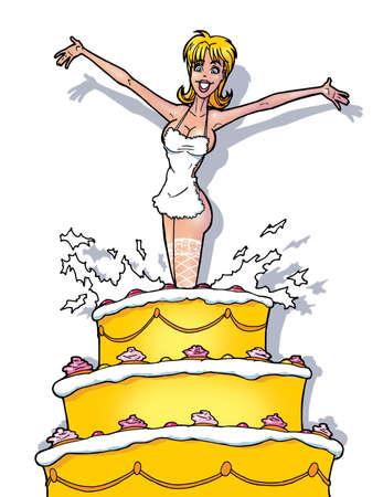 funny strip girl from cake