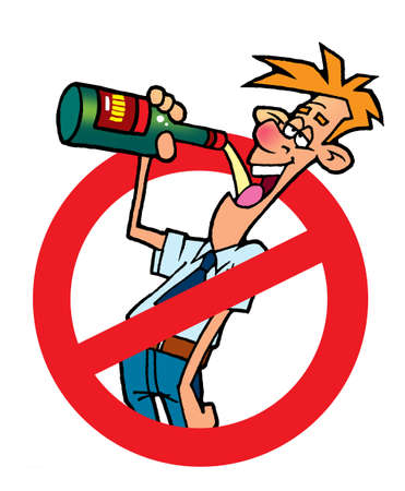 car safety: No alcohol sign Stock Photo