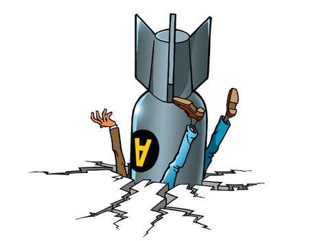 Cartoon air bomb kills man
