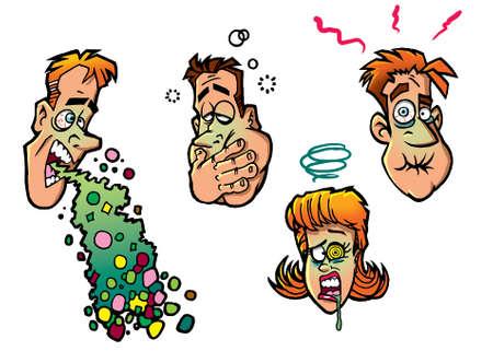 vomito: v�mitos personas Foto de archivo