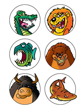 scary cartoon animals set 1 photo