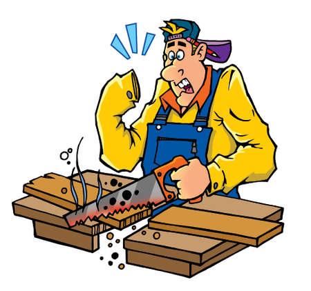 serrucho: �Y d�nde est� la mano del carpintero con una sierra de mano