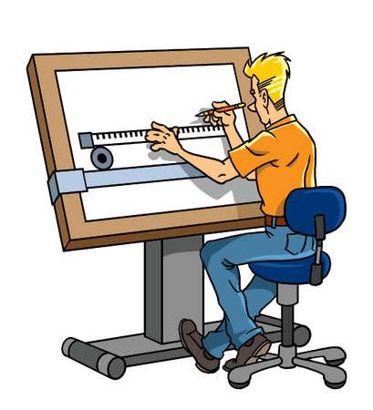 dibujo tecnico: Diseñador en el trabajo