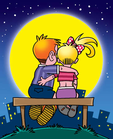 blondie: Romantic boy and girl