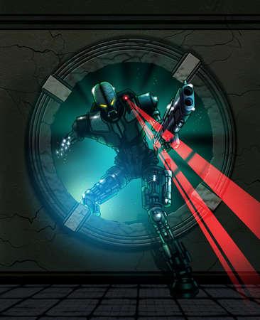 robot war: alien robot