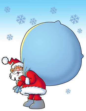 sac: santa with a sac  Stock Photo