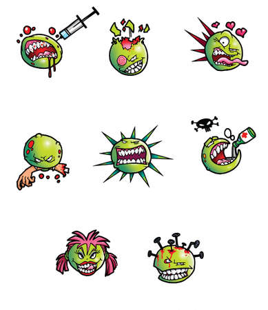 aids virus: cartoon viruses